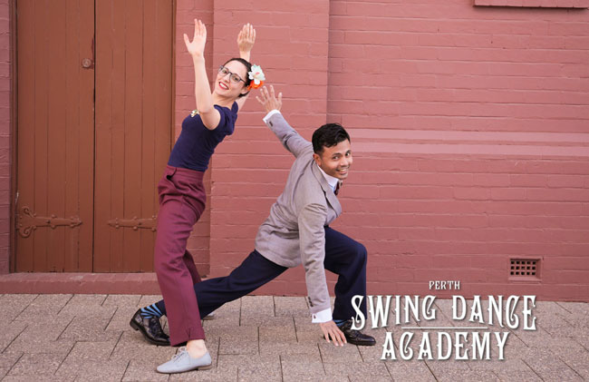 Picture of swing dance teachers in Vic Park